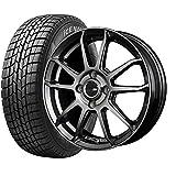 国産スタッドレスタイヤ(165/60R15)+ホイール(15インチ) 4本SET(1台分)■Bセット:ブロッケンES01[ハイパーシルバー]