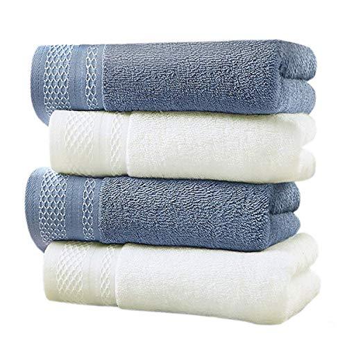 LEEPWEI フェイスタオル 4枚セット タオル 綿100% 人気 柔らかな肌触り ふんわり 瞬間吸水 速乾 抗菌防臭 ...