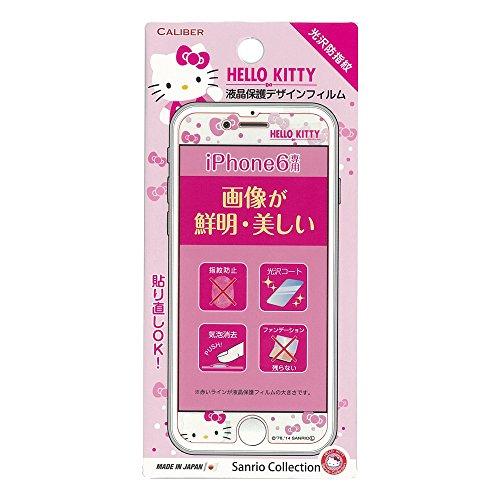 CALIBER キャリバー iPhone6 4.7inch対応 液晶保護デザインフィルム(光沢タイプ) - ハローキティ ピンクリボン IP-047