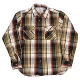 (アビレックス)AVIREX ネルシャツ シャツ チェック ワーク デイリー フランネル 6155164 L 55ブラウン
