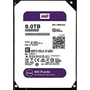 WD HDD 内蔵ハードディスク 3.5インチ 8TB WD Purple 監視カメラ用 WD80PUZX 5400rpm 3年保証