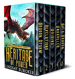 Heritage of Power (The Complete Series: Books 1-5): An epic dragon fantasy boxed set by [Buroker, Lindsay]