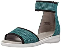 Aerosoles Women's Greatness Wedge Sandal, Blue, Size 9.0 [並行輸入品]