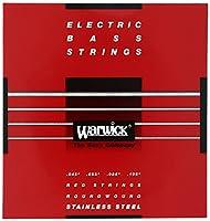 WARWICK ワーウィック エレキベース弦 4弦セットステンレス 42200 RED Strings Medium 045/105