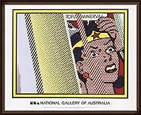 ポスター ロイ リキテンスタイン Reflections on Minerva 額装品 ウッドハイグレードフレーム(オーク)