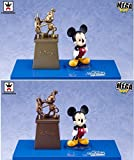 Disney Characters Mega World Collectible figures Story。05「Mickey & Friends」Wholeセットof 2