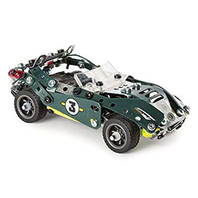 Meccano by Erector 5-in-1 Roadster Pull Back Car Building Kit, Stem Engineering Education Toy for Ages 8 and Up