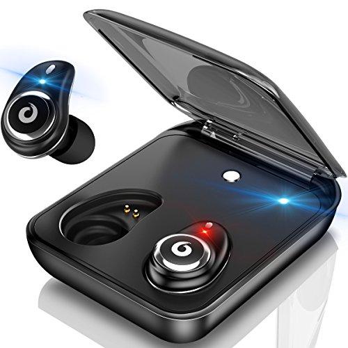 進化版Bluetoothイヤホン高音質ワイヤレスイヤホンIPX7完全防水両耳75時間連続駆動充電ケース付 ハンズフリー通話 マイク内蔵Siri対応タッチ式ブルートゥースイヤホンiPhoneAndroid対応