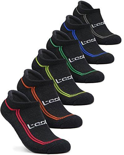 (テスラ) TESLA ソックス 靴下[抗菌防臭・吸汗速乾] ショートレングス 6足組 [ユニセックス] MZS06-KLB-L
