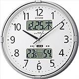 シチズン 環境目安表示付 電波掛時計 【壁掛け かべかけ アナログ あなろぐ オフィス 学校 塾 事務所 ステップ秒針 電波時計 しちずん F7104-05】
