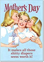 ShittyおむつWorth It母の日ジョークカード 1 Mother's Day Card & Envelope (SKU:7396)