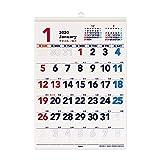 キュービックス 2020年 カレンダー 壁掛け A3 ベーシック もじでか 203321-01