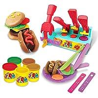 ETbotu プレイハウス ゲーム おもちゃ 子供 3D ヘアレッサー/BBQ 粘土セット おもちゃ プラスチックツールキット DIY JF-ZRZ-TOY-DS-20181025-044