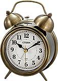 CITIZEN ( シチズン ) 目覚まし 時計 ツインベルRA06 アンティーク 調 ゴールド (イブシ仕上) 8RAA06-063