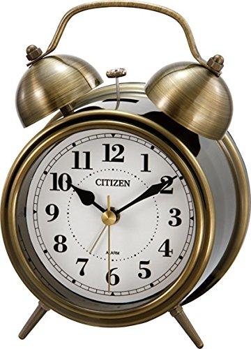 CITIZEN ( シチズン ) 目覚まし 時計 ツインベルRA06 アンティーク調 金色イブシ仕上 8RAA06-063