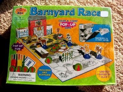 Barnyard Races Color n' Stamp Pop-up Game by Creative Kids [並行輸入品]