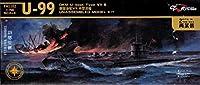 フライホークモデル 1/700 U ボート TypeVIIB U-99 2隻入り FLYFH1102 プラモデル