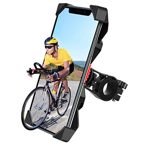 自転車ホルダー バイクスマホホルダー GPSナビ スマホ固定用マウント 360度回転 スマホ iPhone固定用 脱落防止 Andriod/iPhoneに多機種対応