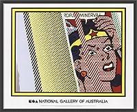 ポスター ロイ リキテンスタイン Reflections on Minerva 額装品 ウッドベーシックフレーム(ブラック)