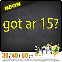 Got ar 15? - 3つのサイズで利用できます 15色 - ネオン+クロム! ステッカービニールオートバイ