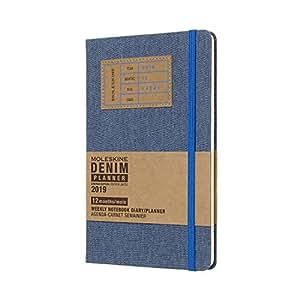 モレスキン 手帳 2019年1月始まり 12ヵ月-デニム 限定版 ウィークリーダイアリー ハードカバー ラージ ブルー DDN12WN3Y19