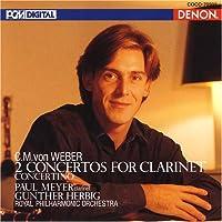 ウェーバー:クラリネット協奏曲第1番&第2番