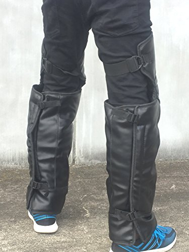 (nakira) 装着簡単! レッグウォーマー バイクでの足の寒さ防止! チャップス (Lサイズ)