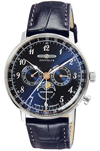 [ツェッペリン] 腕時計 Hindenburg 7036-3 並行輸入品 ブルー