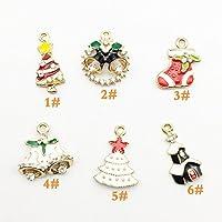 JABIT 可愛いクリスマスシリーズ ミニサイズチャームパーツ-手芸 クラフト 生地 材料 (デコパーツ 6号色)