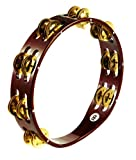 MEINL Percussion マイネル タンバリン Traditional Wood Tambourine Brass Jingles 2rows TA2B-AB 【国内正規品】