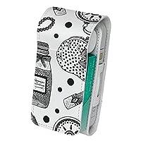 スマコレ iQOS アイコス レザーケース 【従来型/新型 2.4PLUS 両対応】 タバコ 専用 ケース カバー 合皮 カバー 収納 おしゃれ リップ モノトーン 012598