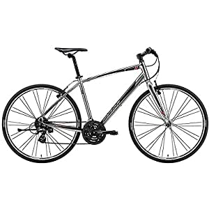 メリダ(MERIDA) クロスバイク CROSSWAY 100-R シャイニーダークシルバー/レッド/ブラック(ES46) AMC1418 41cm