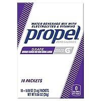 Propel Zero Grape Water Beverage Mix ゼログレープウォータービバレッジミックス 10杯分 [並行輸入品]