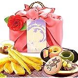 誕生日プレゼント おいもやどら焼き ギフトセット お祝い お菓子 の プレゼント 内祝い (ピンク風呂敷・編み籠入り)