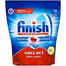 Finish Powerball Max in One Dishwasher Tablets, Lemon Sparkle, 72 Pack