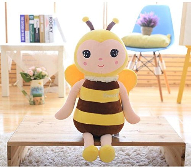 HuaQingPiJu-JP 子供の贈り物ソフトおもちゃソフトかわいいシミュレーション蜂ぬいぐるみ動物の人形40cmロング(イエロー)