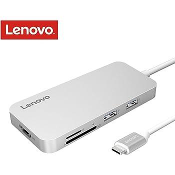 Lenovo USB C ハブ Type-C Hub HDMI出力 高速USB 3.0 USB2.0 SD & MicroSD カードリーダー コンパクト MacBook Pro 2016/2017/ChromebookなどUSB-Cデバイス対応 シルバー