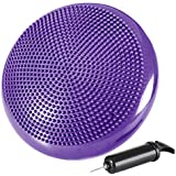 """Reehut Stability Balance Disc Trainer w/ Free 9-Page Ebook - 13"""" Diameter Wobble Cushion w/ Air Pump for Workout, Therapy, Fitness and Training Exercise"""