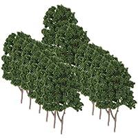 KOZEEY樹木  木 モデルツリー 鉄道レイアウトウォーゲーム Nゲージ用  情景コレクション ザ ? 鉄道模型?ジオラマ?建築模型?電車模型に   20個 7.5センチ