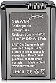 Neewer Replacement NP-FW50 1030mAh Battery for Sony Alpha 7 7R 7S A7II 7RII A6500 6300 6000 A5000 A3000 Alpha