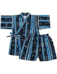 アスナロ(甚平) 甚平 キッズ 男の子 子供 とんぼ柄 和柄 綿100% 上下スーツ 部屋着