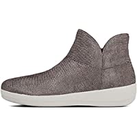 FitFlop Womens Supermod Lizard Print Suede Ankle Boot