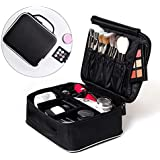 ROWNYEON Makeup Train Case Makeup Travel Bag Mini Cosmetic Bag Organizer Professional Portable Cosmetic Makeup Case for Women