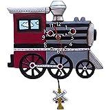 Allen Designs Studios アレンデザイン 振り子時計 掛け時計 チューチュー トレイン 蒸気機関車 鉄道 列車 P1558 [並行輸入品]