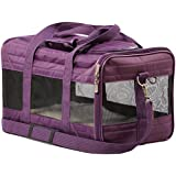 Sherpa Travel Original Deluxe Airline Approved Pet Carrier, Medium, Plum