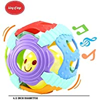 KingのおもちゃベビーRattle、Sensory Teether Toy Suitable For Kids 0 – 24 m、音楽、カラフルなライト、ソフトアクティビティボール。