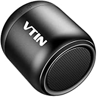 VTIN ワイヤレススピーカー コンパクト ポータブルスピーカーbluetooth 高音質 IPX5防水規格 重低音増強 マイク搭載 お風呂スピーカー (黒)
