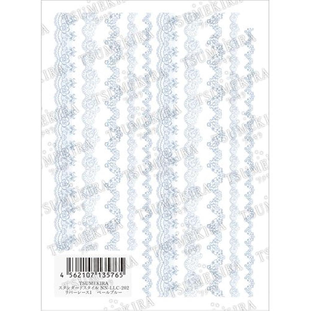 独創的理容室たとえTSUMEKIRA(ツメキラ) ネイルシール リバーレース1 ペールブルー NN-LLC-202 1枚