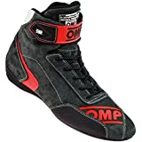 OMP FIRST EVO レーシングシューズ ANTHRACITE/RED 42 FIA公認 8856-2000