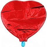アルミ ハートバルーン 25cm 10個 セット 風船 結婚式 プロポーズ 店の装飾 誕生日 お祝い(ハート型 赤)